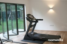 Garden room used as a gym